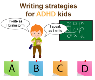 writing strategies for ADHD kids